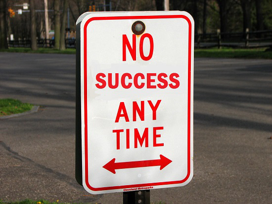 No Success sign Ellory Wells jon d Harrison